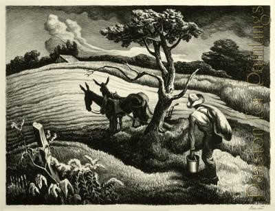 """Approaching Storm"" Painting by Thomas Hart Benton From passionforpaintings.com"